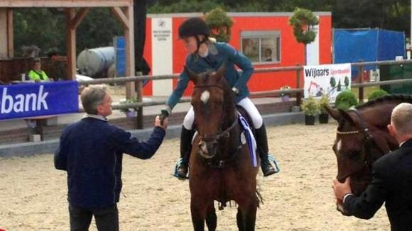 Maureen Bonder werd tweede in de 1.40-finale in Asten.