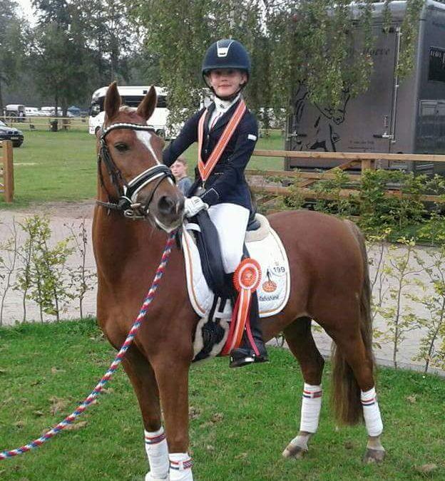 Flore Woerts behaalde zilver met Igor.