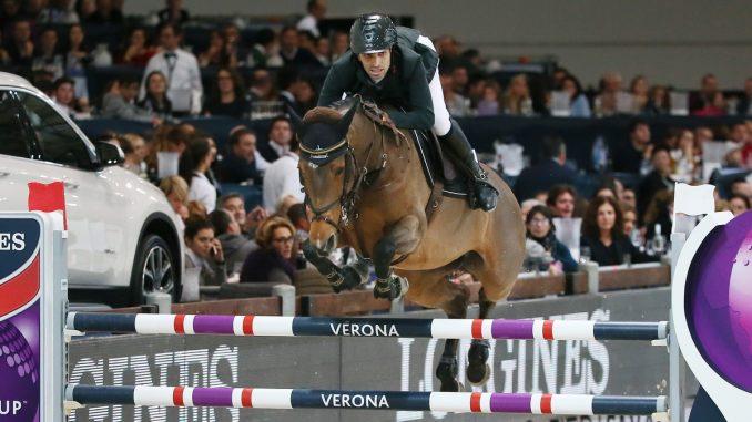Abdel Said won met Hope van Scherpen Donder de wereldbeker in Verona. foto FEI | Stefano Secchi