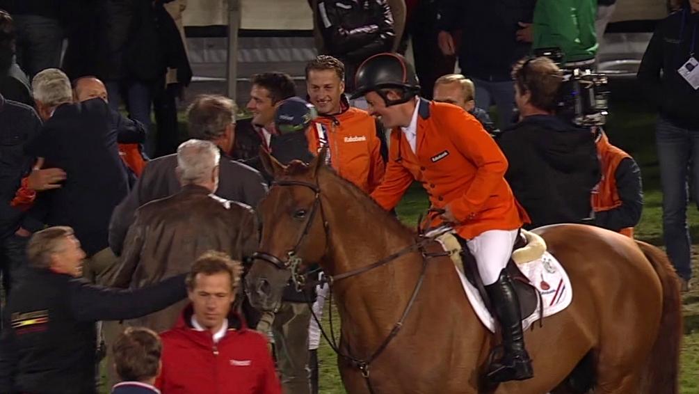 Nederlandse springruiters winnen landenwedstrijd op CHIO Aken