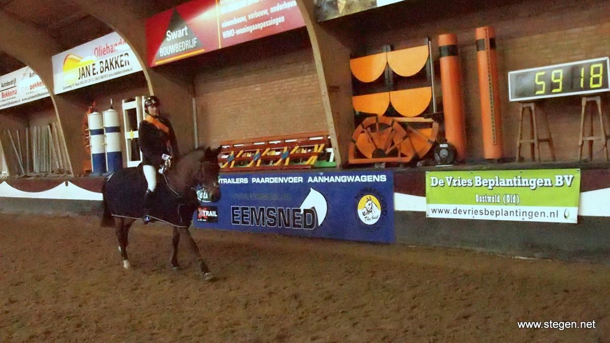 Amanda Slagter werd met Anouk kampioen in de M.
