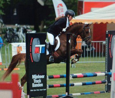 Bij de pony's leverde Anna-Sophie Huisman opvallende prestaties.