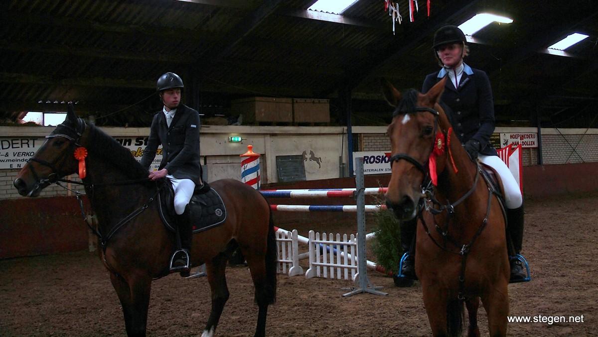 CH Onstwedde. Arjen Slik (links) won het M-klassiek en Rana Dalenoord het Z/ZZ-klassiek.