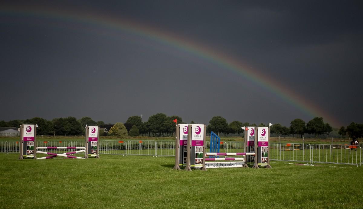 Het CH Schoonloo werd geteisterd door buien, maar dat leverde wel mooie plaatjes op! Foto: John Bruininck