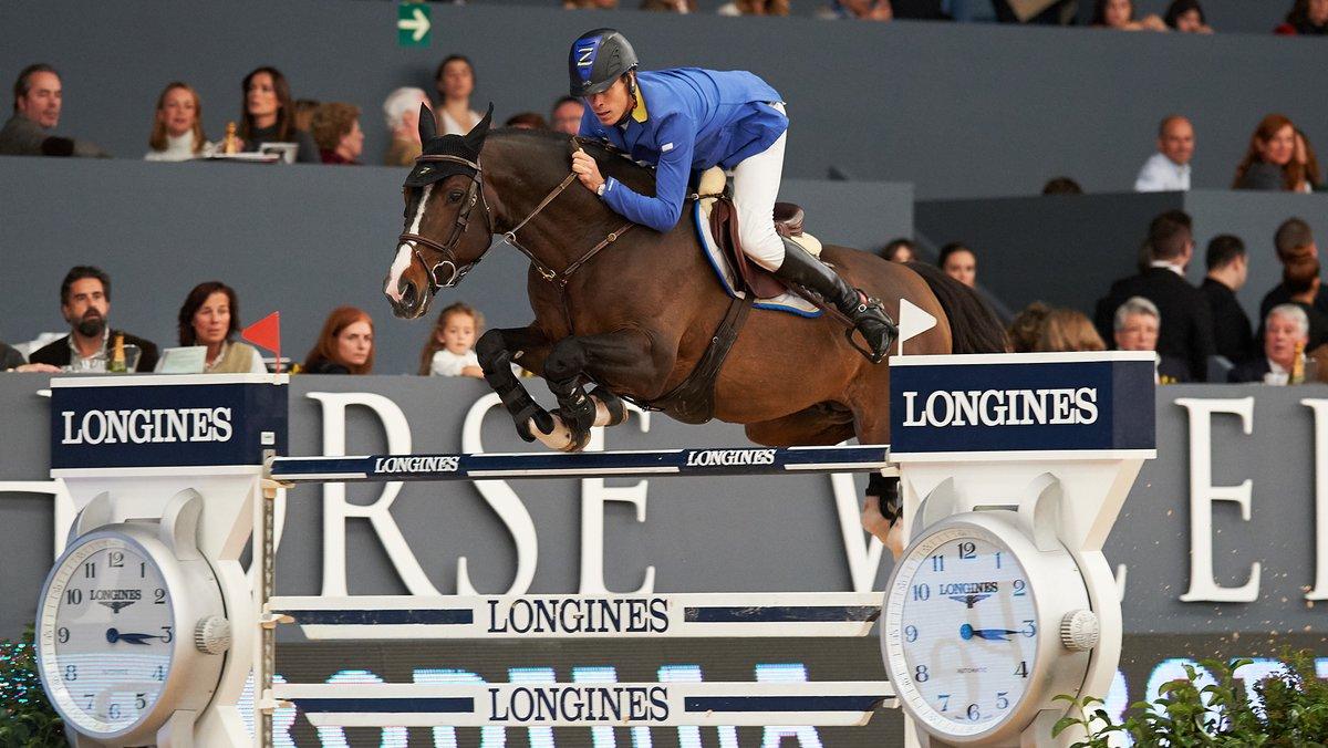 Christian Ahlmann en Taloubet Z wonnen de wereldbeker in Madrid. (foto: FEI | Herve Bonnaud)