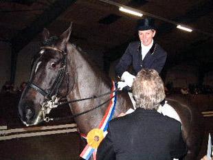 Corrie Rave werd met Landkorn Gronings kampioen.