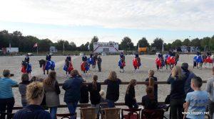 Alle dressuurkampioenen van Drenthe op een rij. foto: Ingeborg Vermeer