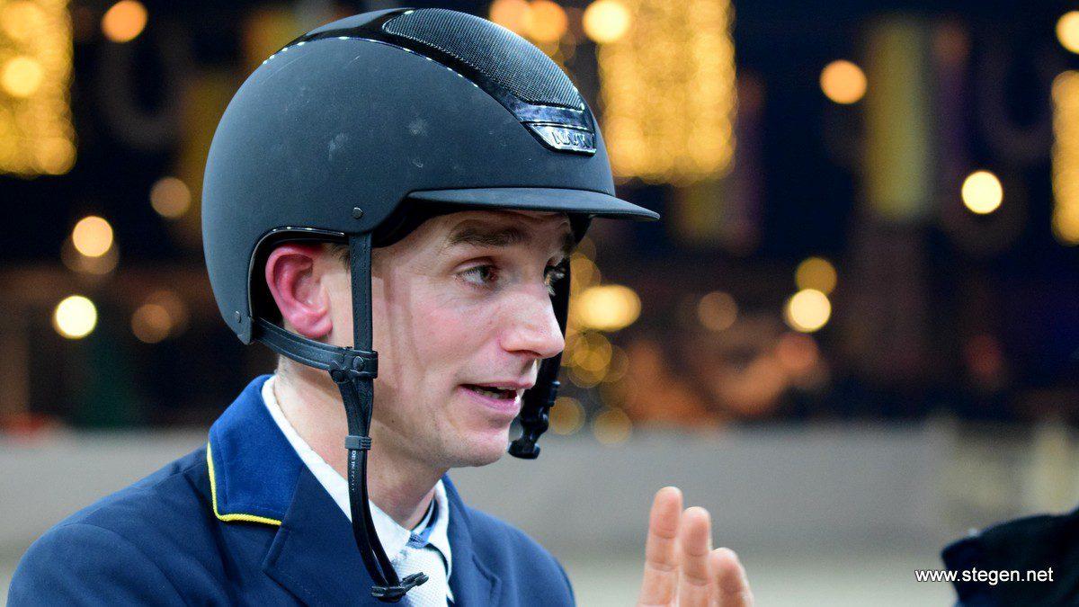 Daan van Geel presteerde overtuigend bij Indoor Drachten en won met Djam het 1.50.