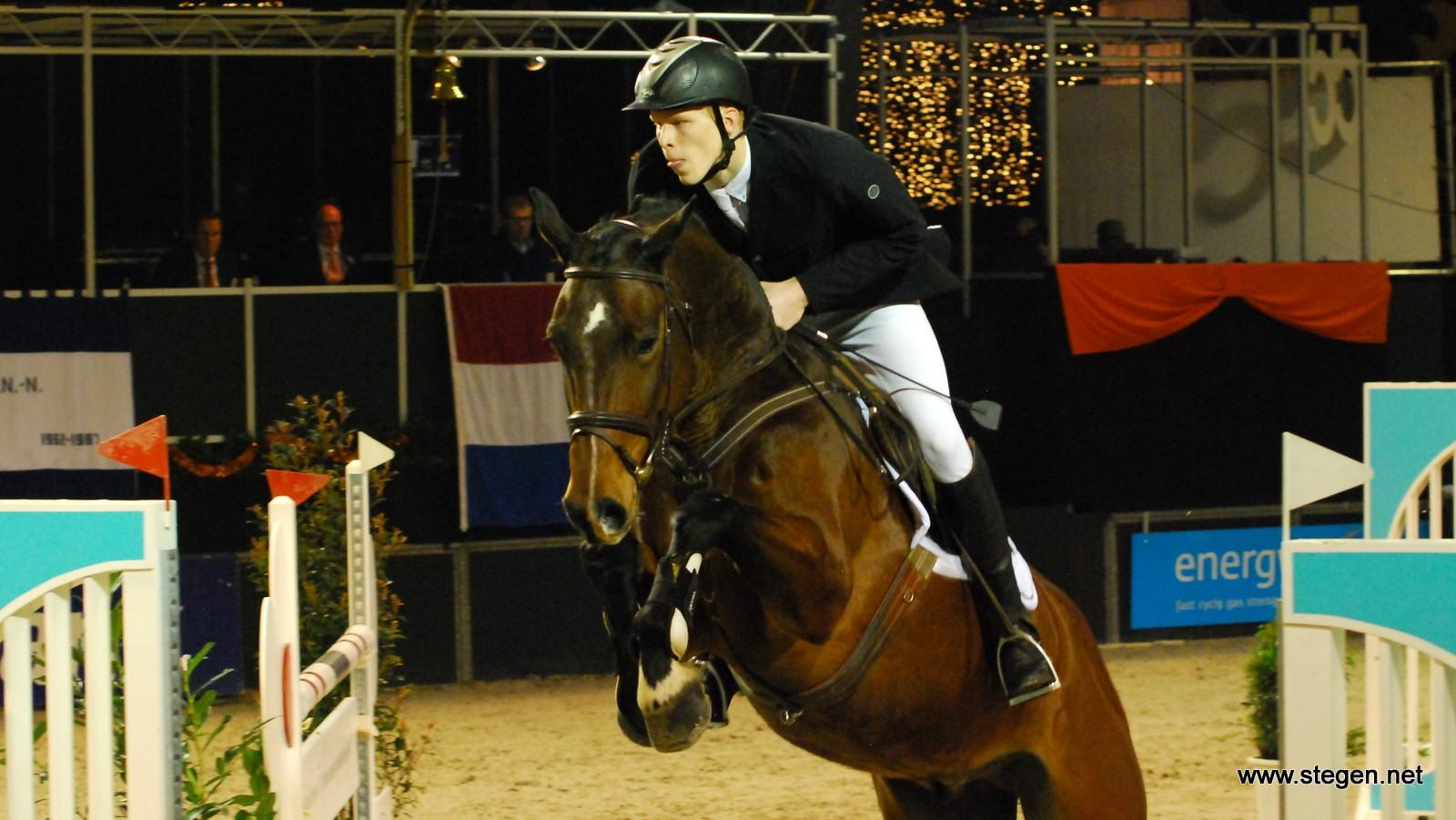 Denny Olde Agterhuis eiste met Grespo bij Indoor Groningen de overwinning op in de L-finale. foto: Steven Stegen