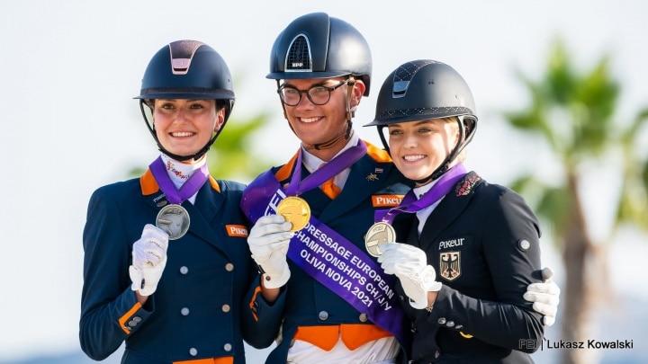 Marten Luiten individueel Europees kampioen Young Riders