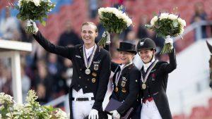 Isabell Werth Europees kampioen in kür, Madeleine Witte achtste