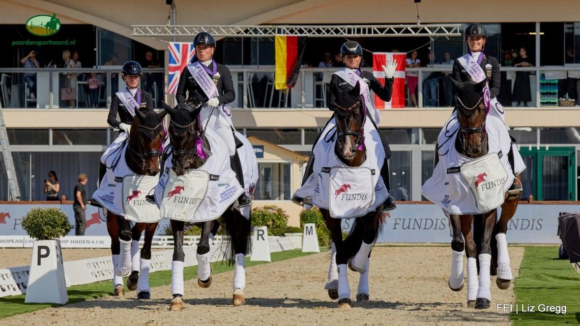 EK dressuur Hagen: goud voor Duitse equipe, Nederland vijfde