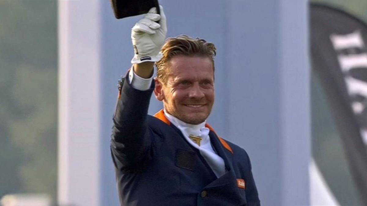 Edward Gal was de beste Nederlander in de winnende ploeg op het EK in Aken.