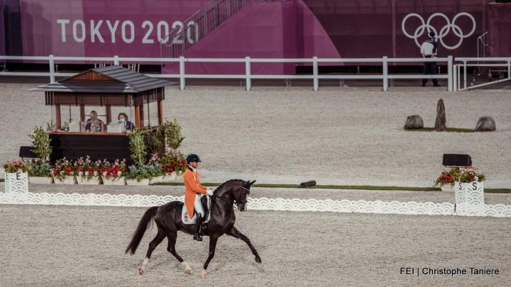 Edward Gal en Hans Peter Minderhoud beginnen sterk op Olympische spelen