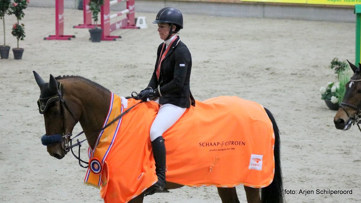 Ellen Zwijnenberg werd met Boncetto KNHS-kampioen in de klasse ZZ.