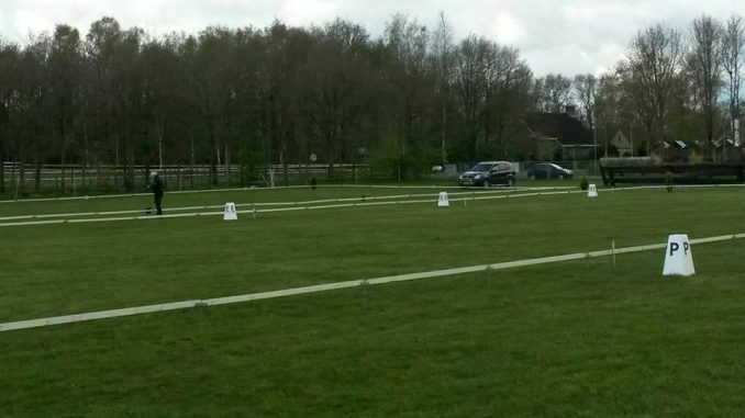Koningsdagconcours. De mooie grasbanen in Onstwedde lagen er goed bij.