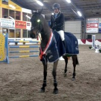 Francine Pijper werd kampioen in de klasse M met Overcinge's Columbus. ©Henk Compagner