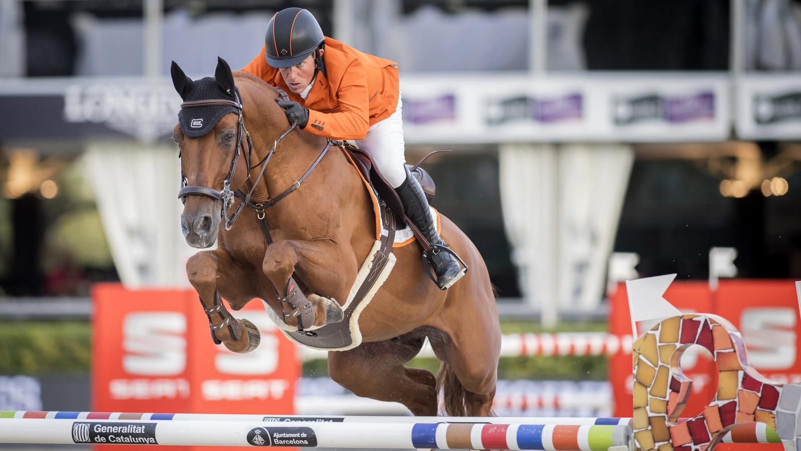 Nederlandse springruiters achtste in finale Nations Cup: 'het zit gewoon niet mee'