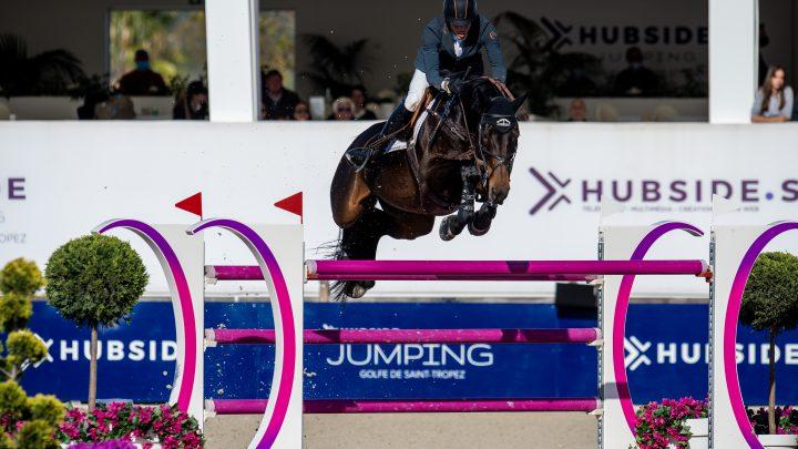 Harrie Smolders derde in Grote Prijs Hubside Jumping