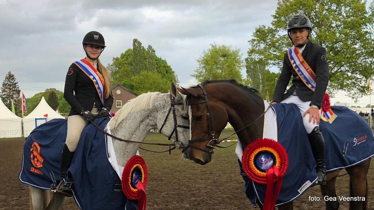 Broer en zus Hilde en Gerrit Veenstra pakken beiden zilver op NK Mierlo