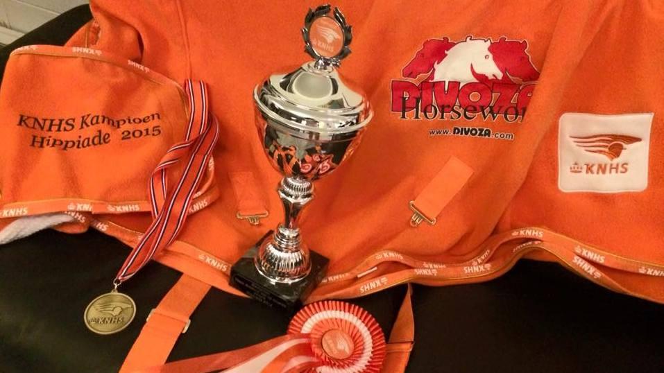 Tijdens de Hippiade voor pony's kwamen de Noordelijke deelnemers sterk voor de dag.