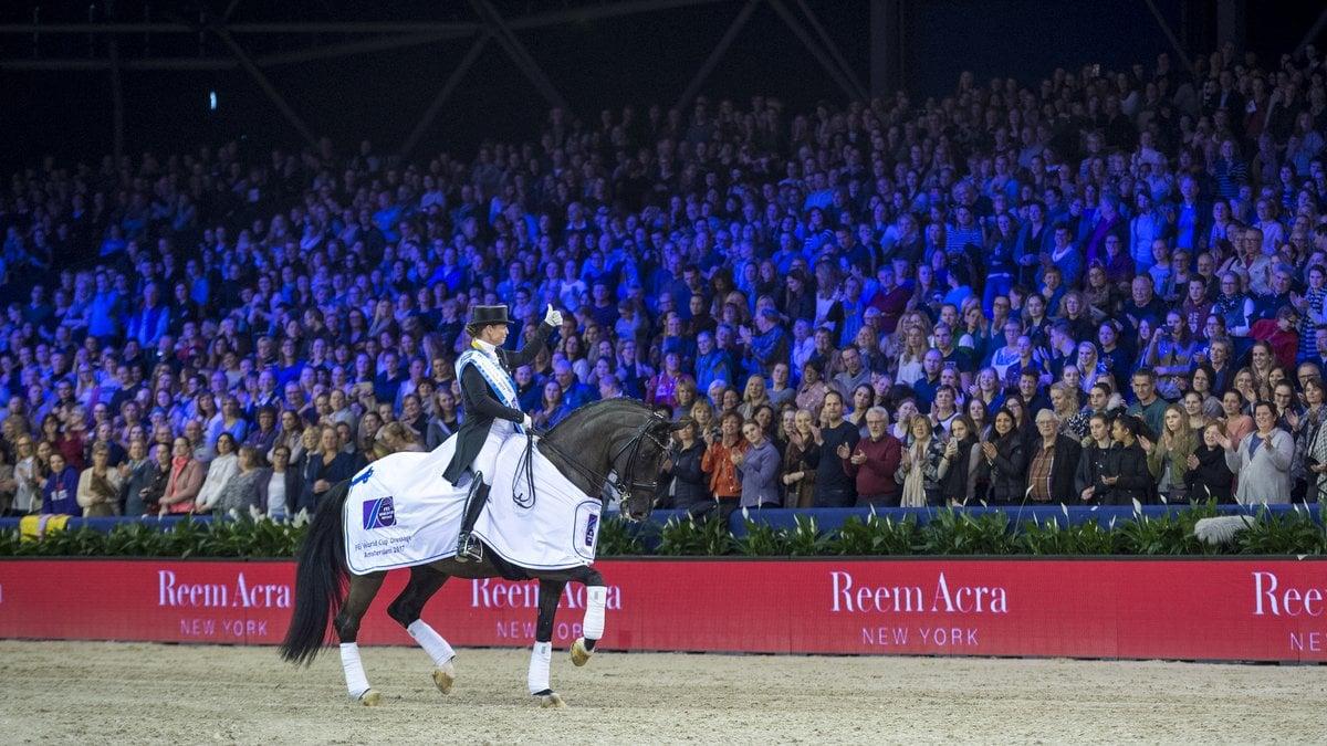 wereldbeker Jumping Amsterdam. Isabell Werth Weihegold