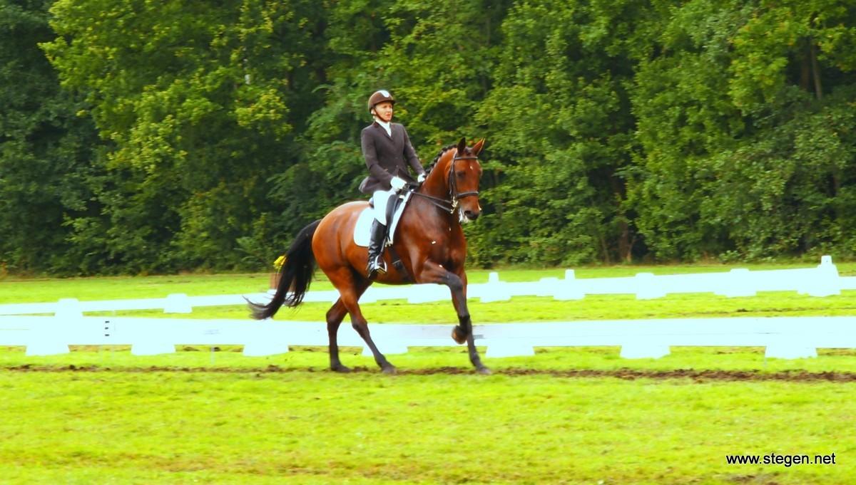 Jane van Meerten werd met Aristo eerste en tweede in de Z1. Foto: Reinold Lowes