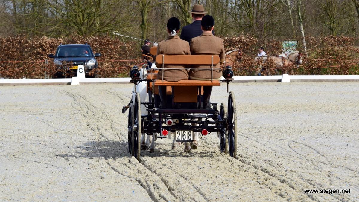 Menwedstrijd Exloo: Jannes Kinds derde na loodzware dressuur