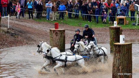 Jannes Kinds werd achtste op het WK mennen voor pony's.