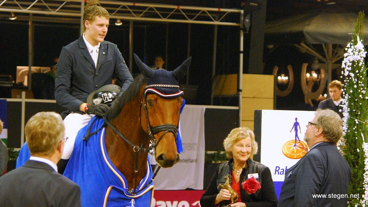 Jasper Kools en Chatto tijdens hun eerdere overwinning bij Indoor Groningen.