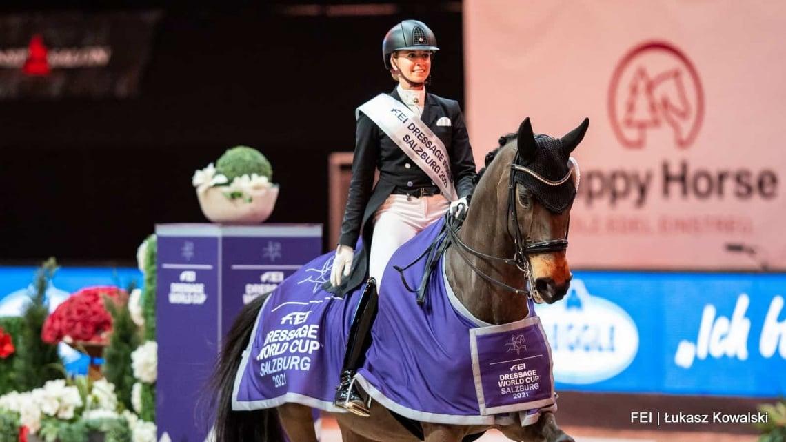 Jessica von Bredow-Werndl wint wereldbeker Salzburg