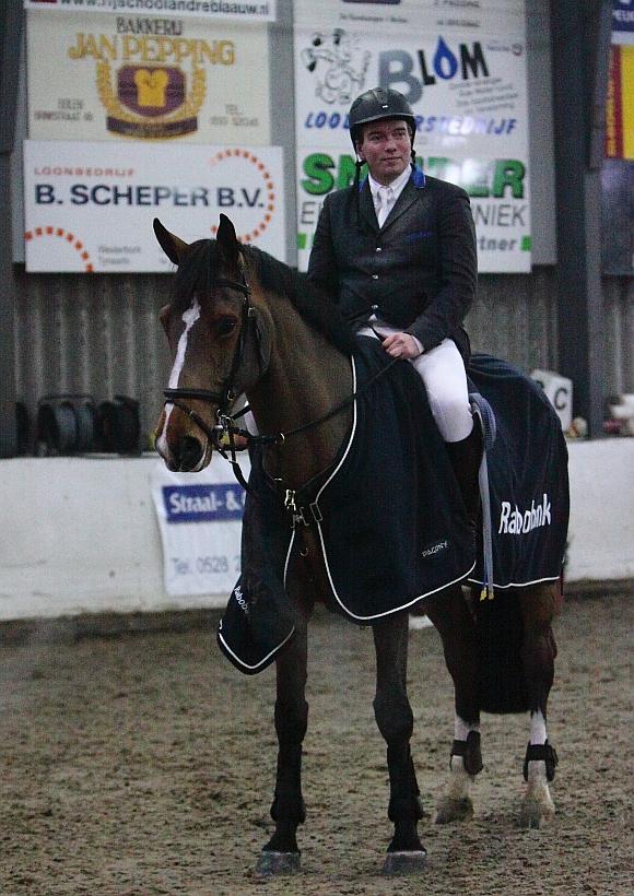 Winnaar Job Oldenziel met Ofichem's Zairda. ©Joke van der Molen