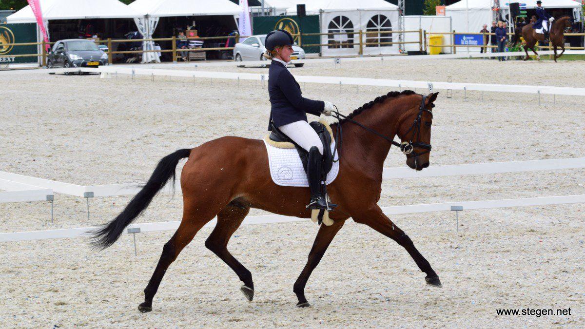 Joyce Vegter won met Figo (v. Armani) een ZZ-zwaar proef in Eext.
