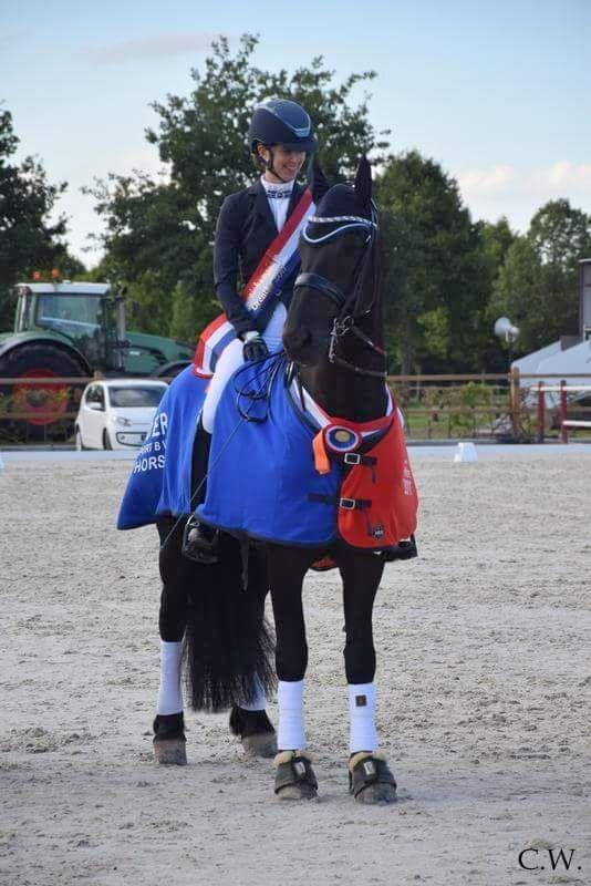 Judith Pietersen werd met Kasper kampioen in de Z2. foto: Celine Weerink