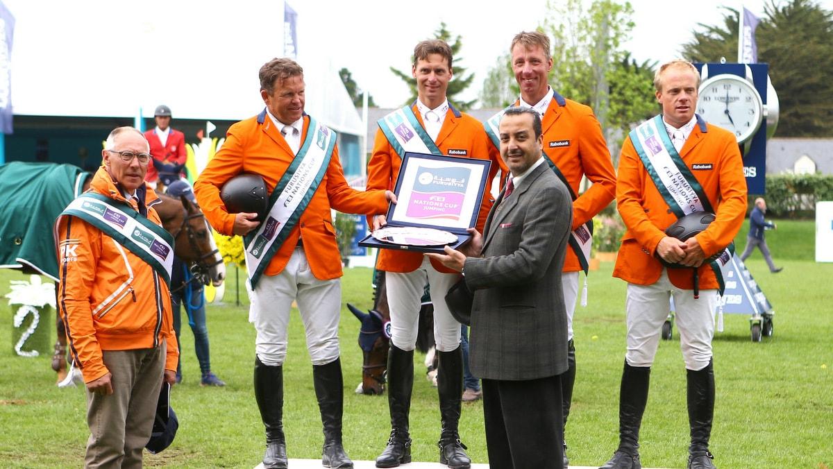 Nederlandse springruiters grijpen overwinning in La Baule