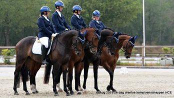 Drentse kampioenschappen afdelingsdressuur niet zonder slag of stoot