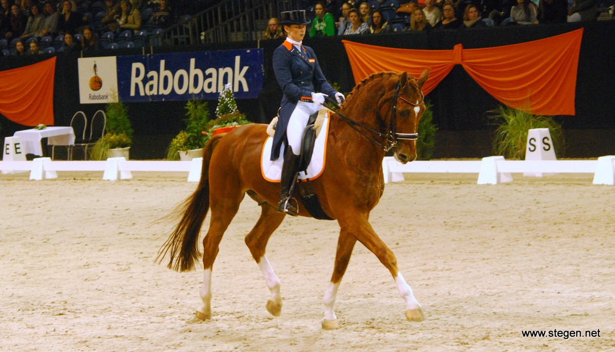 Marjan van der Jagt met Radetzky tijdens Indoor Groningen. foto: Steven Stegen