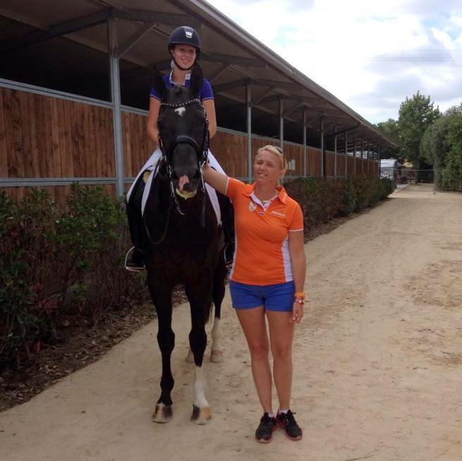 Marjan Hooge en haar coach Annemieke Vincourt.