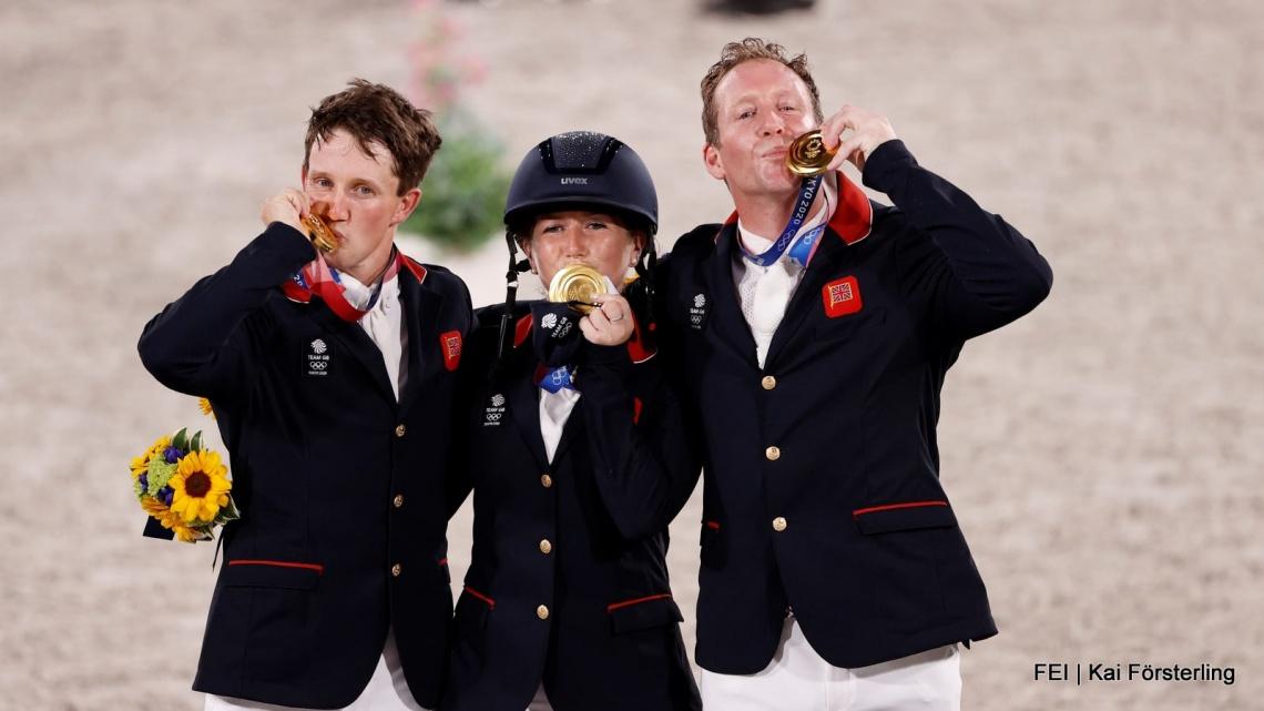 OS Tokio: team Groot-Brittannië pakt goud bij eventing