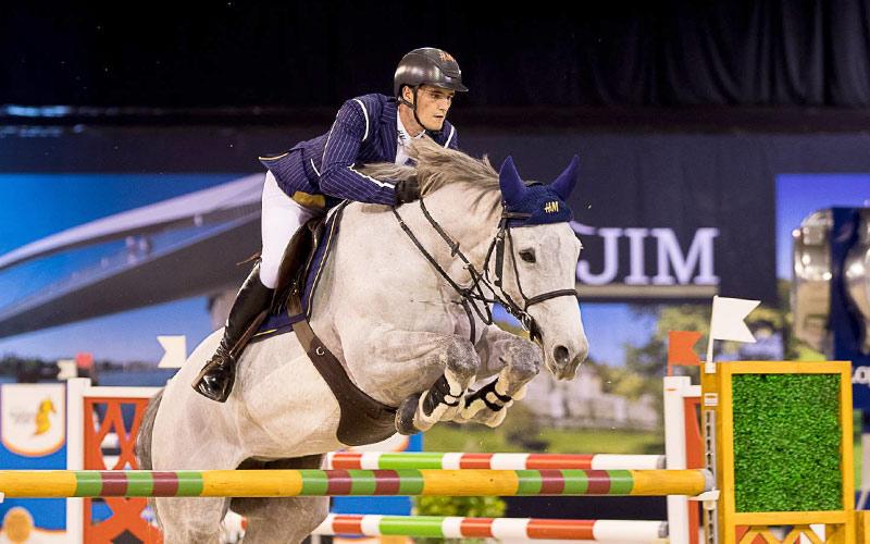 Olivier Philippaerts won met Legend of Love de Grote Prijs van Jumping Indoor Maastricht.,