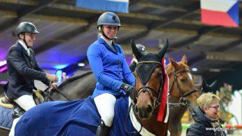 Romiëlle van Tuyl pakt in Exloo ticket voor Jumping Amsterdam