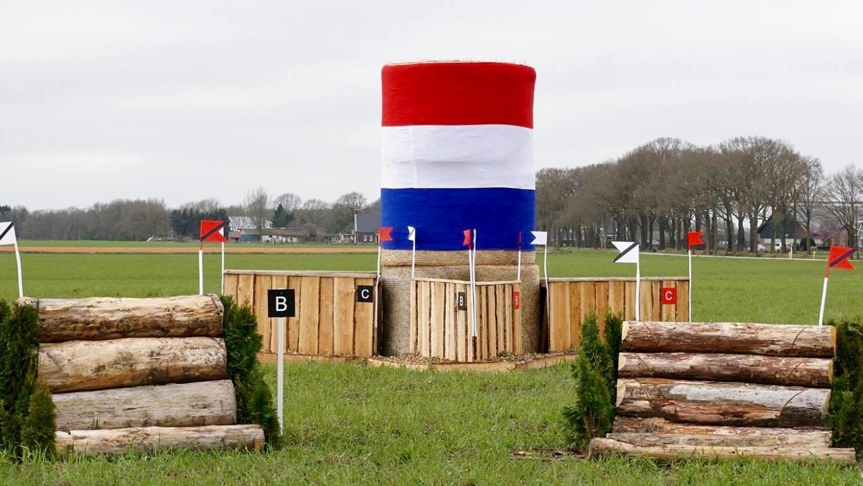 Een van de opgebouwde hindernissen van de SGW Westerbork.