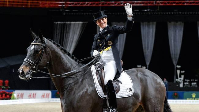 Tinne Vilhelmson werd met Don Auriello winnaar in Stockholm.