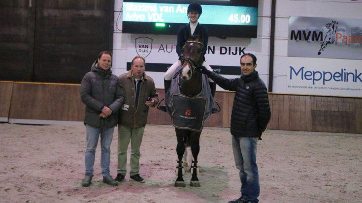 Maxime van Andel was met Ivivo VDL (v. Harley VDL) de winnaar bij Train & Trade van het ONNK.