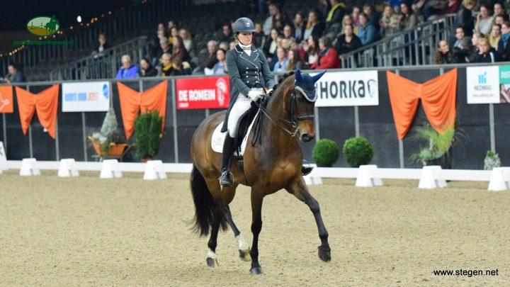 Veronique Roerink en Flanell twee keer tweede bij Indoor Groningen