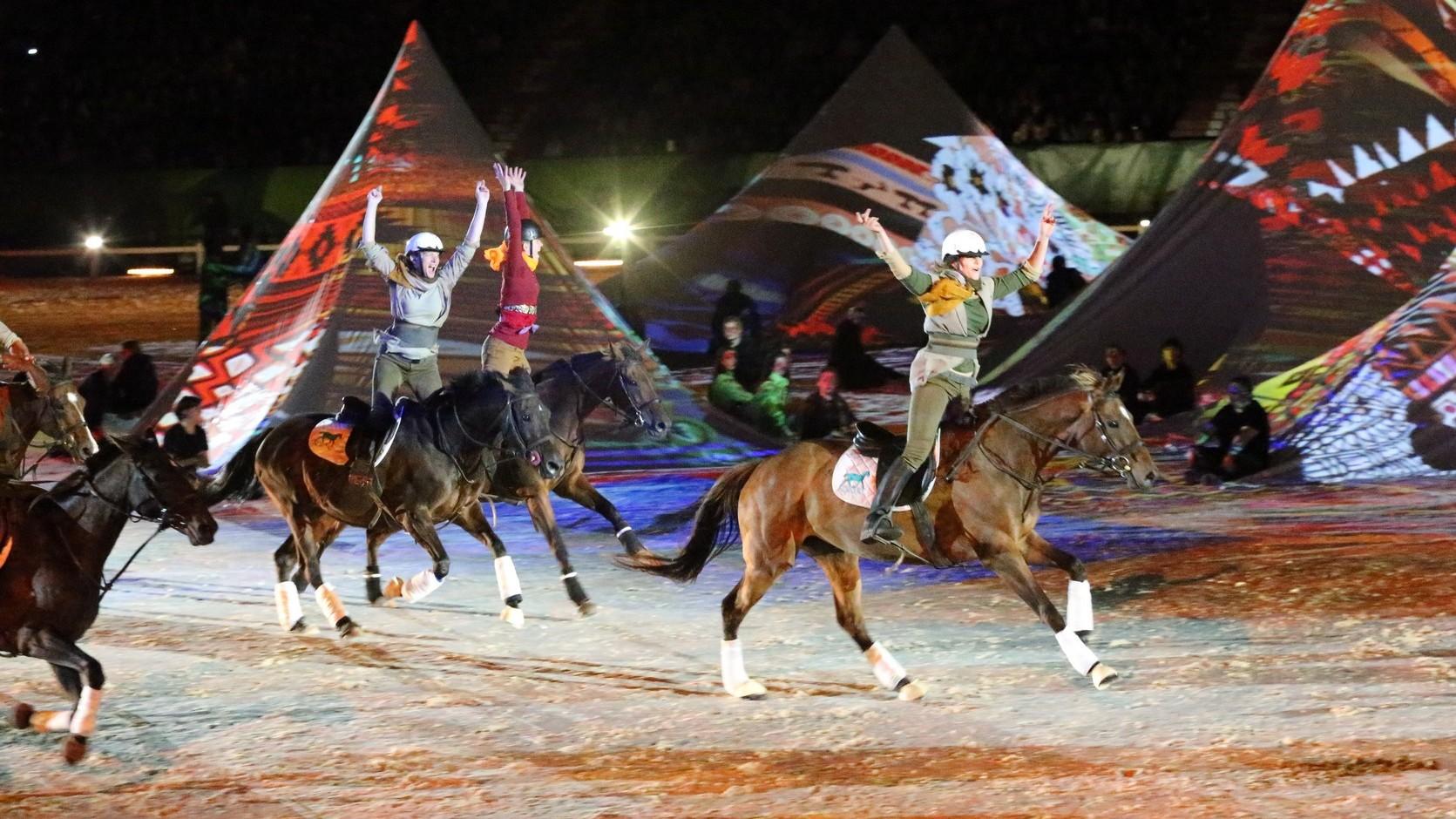 Sfeerbeeld van de opening van de wereldruiterspelen 2014