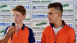 Wesley de Boer en Gerrit Veenstra