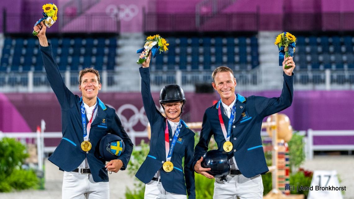 Zweedse springruiters genieten na van Olympisch goud