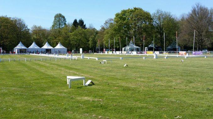 De mooie dressuurbanen tijdens het CH Coevorden.