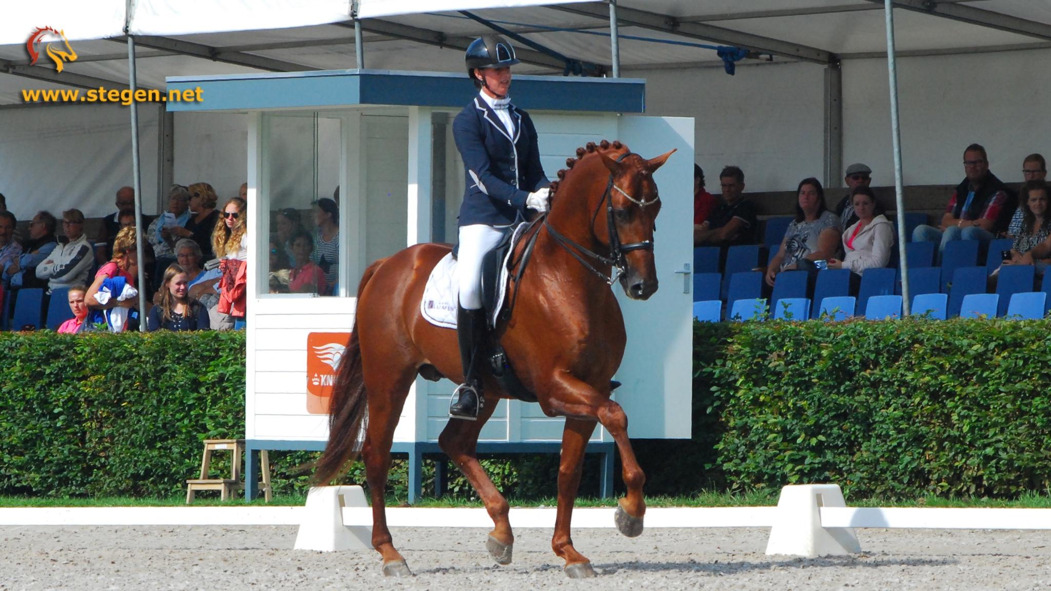 Laura Zwart en Lumen Express reservekampioen in Z2 bij Hippiade